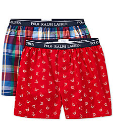 Polo Ralph Lauren 2-Pk. Printed Boxer Shorts, Little & Big Boys