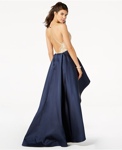 Say Yes To The Prom Juniors Lace High Low Gown Created For Macys