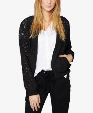 Sanctuary Cotton Lace Bomber Jacket