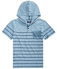 Univibe Verified Stripe Hooded T-Shirt, Big Boys