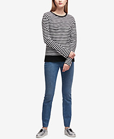 DKNY Striped Snap-Hardware Top, Created for Macy's