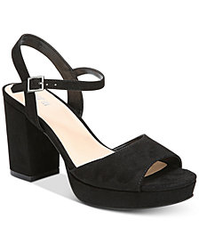 Bar III Callista Platform Dress Sandals, Created for Macy's