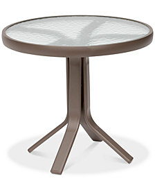 "CLOSEOUT! Aluminum 20"" Round Outdoor End Table, Created for Macy's"