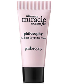 Receive a FREE Deluxe Ultimate Miracle Worker Fix Eye Power-Treatment with any $50 Philosophy purchase