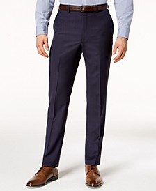 Men's Modern-Fit Stretch Textured Wool Suit Pants