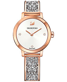 Swarovski Women's Swiss Cosmic Rock Crystal Rose Gold-Tone Bracelet Watch 29mm