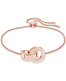 Swarovski Pavé Interlocking Circles Slider Bracelet