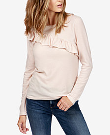 Lucky Brand Cotton Ruffled Sweater