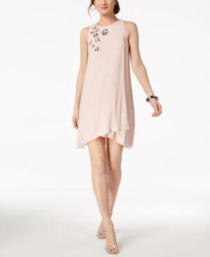 Ivanka Trump Floral-Sequin Chiffon Dress 5696479