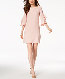Taylor Ruffled Bell-Sleeve Shift Dress, Created for Macy's