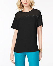 MICHAEL Michael Kors Lace-Trim Top