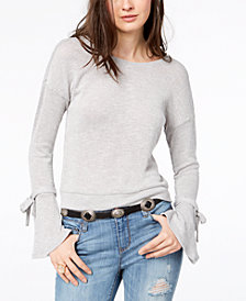 American Rag Juniors' Bell-Sleeve Sweater, Created for Macy's