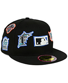 New Era Florida Marlins Ultimate Patch Collection All Patches 59FIFTY Cap