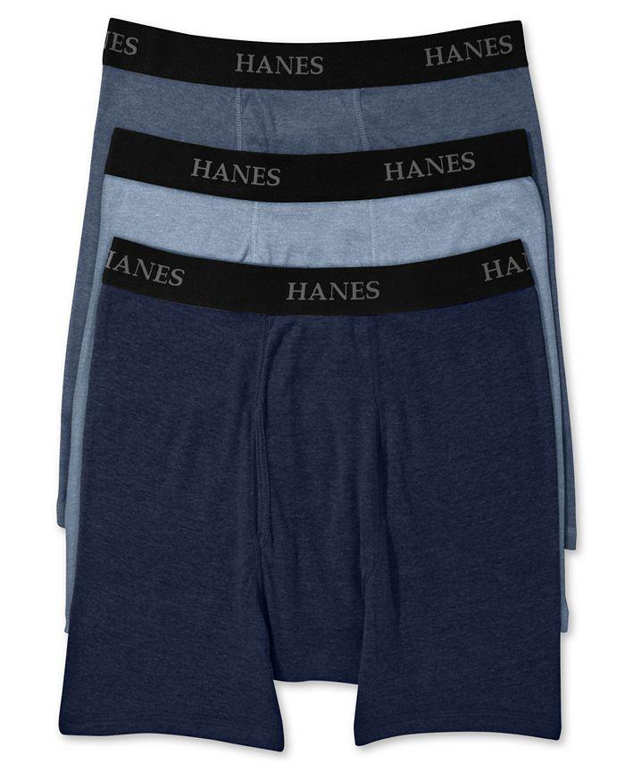 Hanes - Men's Big & Tall 3-Pk. Boxer Briefs