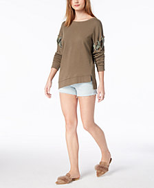 Joe's Jeans The Alice Lace-Up Sweatshirt