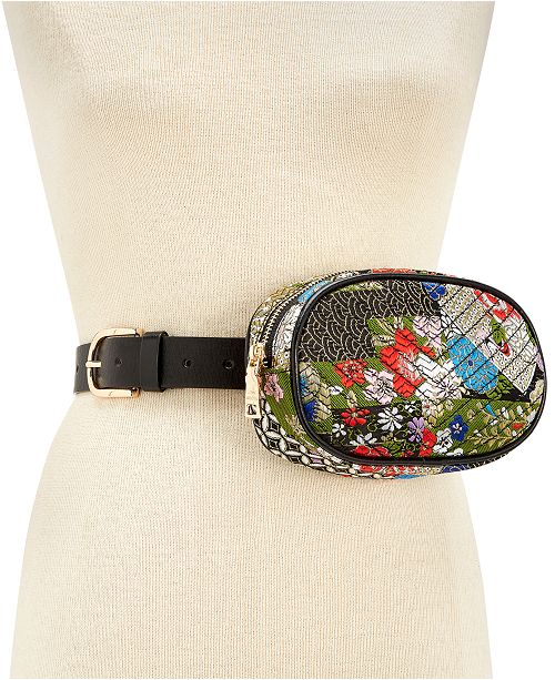 Steve Madden Printed Quilted Belt Bag