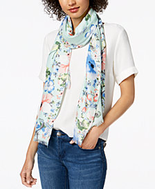 I.N.C. Butterfly Garden  Wrap & Scarf in One, Created for Macy's
