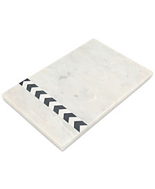 CLOSEOUT! Thirstystone Marble Serving Board with Inlaid Mother-of-Pearl Accents