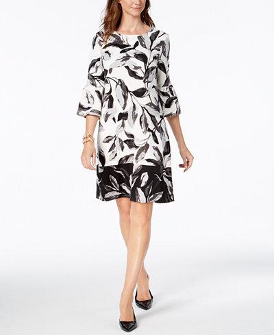 Alfani Lantern-Sleeve Shift Dress, Created for Macy's