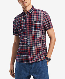 Tommy Hilfiger Men's Colin Pieced Plaid Pocket Shirt, Created for Macy's