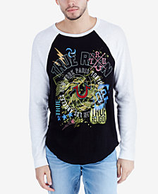True Religion Men's Embroidered Raglan-Sleeve T-Shirt