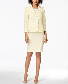 Le Suit Seersucker Skirt Suit