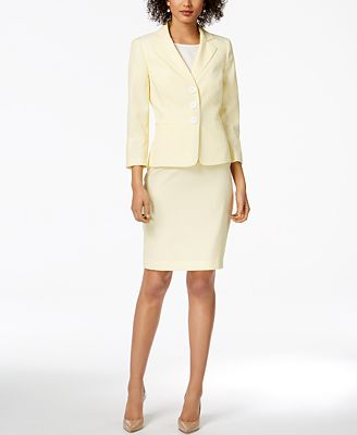 Le Suit Seersucker Skirt Suit Wear To Work Women Macy S