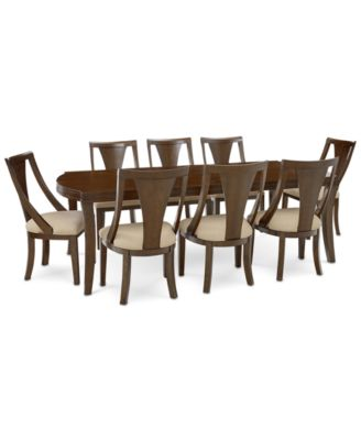 Portland Expandable Dining Furniture, 9-Pc. Set (Dining Table & 8 Side Chairs), Created for Macy's