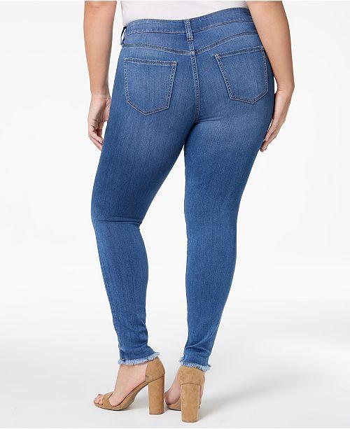 1ddda2ac074 Celebrity Pink Trendy Plus Size Raw-Hem Skinny Jeans   Reviews ...