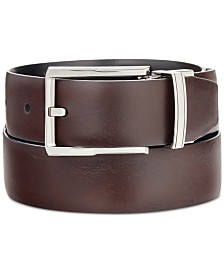Ryan Seacrest Distinction –100% Italian Leather Men's Reversible Dress Belt, Created for Macy's