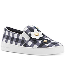 MICHAEL Michael Kors Keaton Floral Gingham Slip-On Sneakers, Created for Macy's
