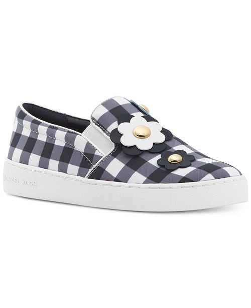 ddceb33b923 Michael Kors Keaton Floral Gingham Slip-On Sneakers