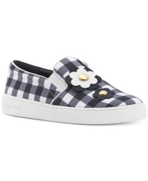 Michael Michael Kors Keaton Floral Gingham Slip-On Sneakers, Created for Macy's Women's Shoes 5188731