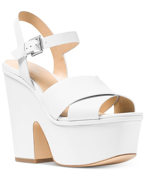 3d76f7fd4758 Michael Kors Divia Wedge Sandals   Reviews - Sandals   Flip Flops ...