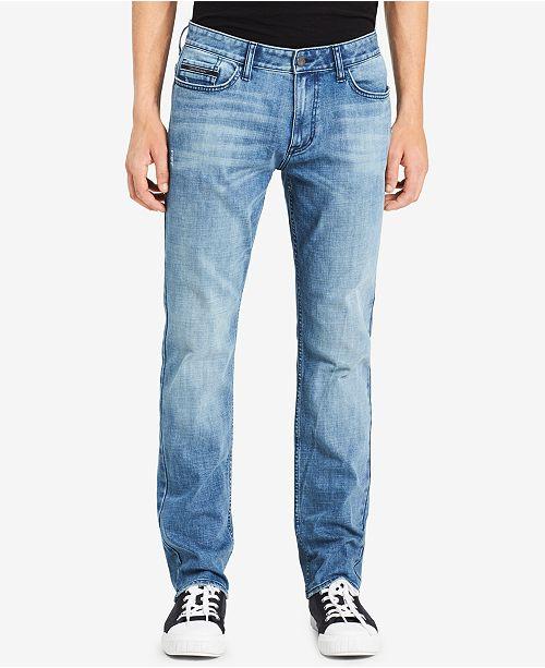 39622f3833e06 Calvin Klein Jeans Men s Cobble Skinny-Fit Jeans   Reviews - Jeans ...