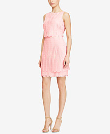 American Living Mesh Popover Dress