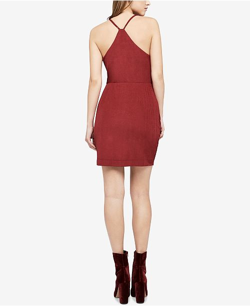 BCBGeneration Red Draped Dress Stretch Jersey q40qOYx