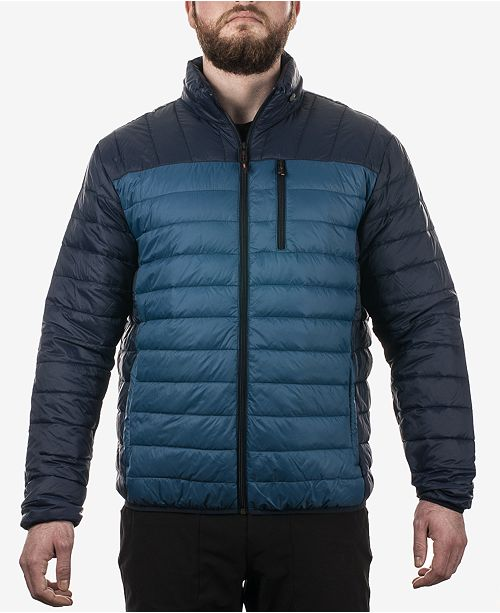 7e79954d71 Outfitter Men's Colorblocked Packable Down Jacket; Hawke & Co. Outfitter  Men's Colorblocked Packable Down ...
