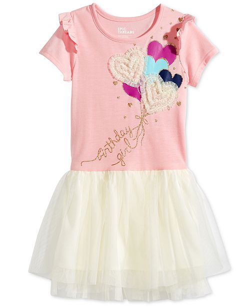 c35f37788252d Epic Threads Birthday Girl Hearts Dress, Little Girls, Created for Macy's