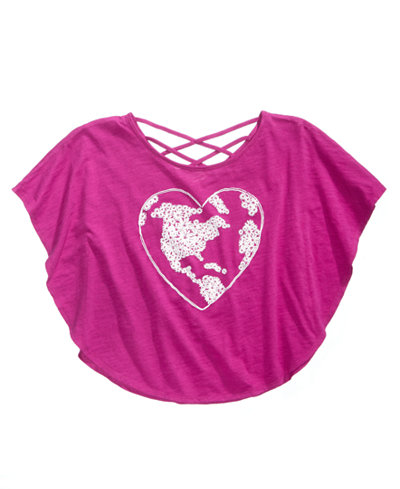 Epic Threads Heart-Print Circle Top, Big Girls, Created for Macy's