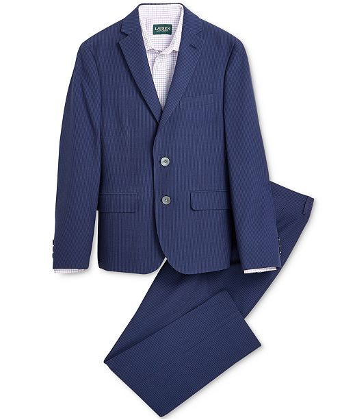 42443af3 Lauren Ralph Lauren Seersucker Suit Jacket, Suit Pants & Check ...