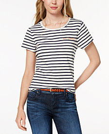 Maison Jules Embroidered Au Revoir T-Shirt, Created for Macy's