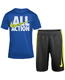 Nike 2-Pc. Graphic-Print T-Shirt & Shorts Set, Toddler Boys