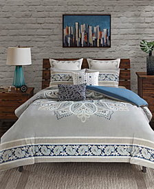 INK+IVY Sky Reversible 3-Pc. Duvet Cover Sets