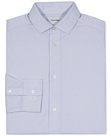 Calvin Klein Printed Button-Front Dress Shirt, Big Boys