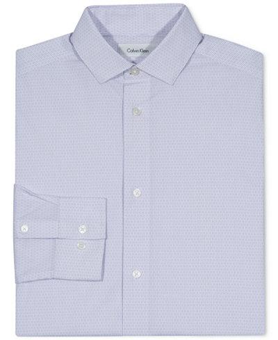 Calvin Klein Printed Button-Front Dress Shirt, Big Boys