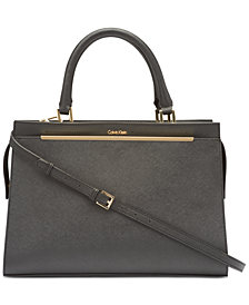 Calvin Klein Cindy Leather Satchel