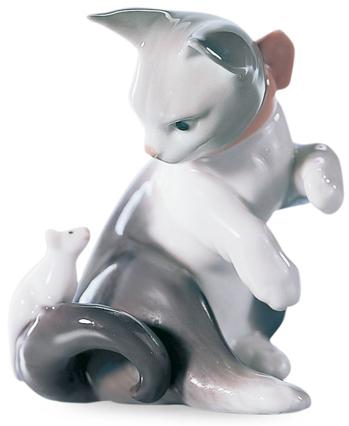 Lladró - Cat and Mouse Figurine