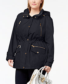 MICHAEL Michael Kors Plus Size Hooded Anorak