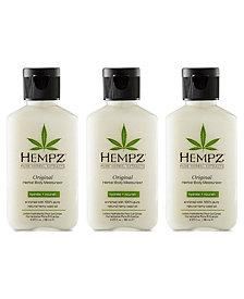 Hempz Original Herbal Body Moisturizer Trio (Three Items), 2.25-oz., from PUREBEAUTY Salon & Spa